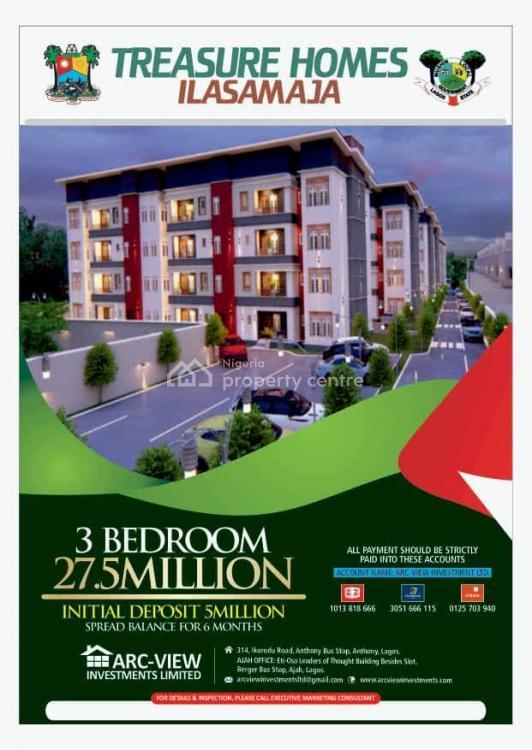 Luxury 3 Bedroom Flat, Treasure Homes ,ajibade, Ilasamaja, Mushin, Lagos, Flat / Apartment for Sale