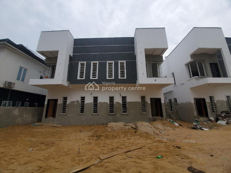 Brand New and Lovely Four (4) Bedroom Semi Detached House with Bq, Chevy View Estate, Lekki, Lagos, Semi-detached Duplex for Sale