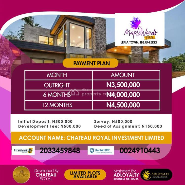 600sqm Plots of Land Available, Maplewoods Forte, Lepia Town, Ibeju Lekki, Lagos, Land for Sale