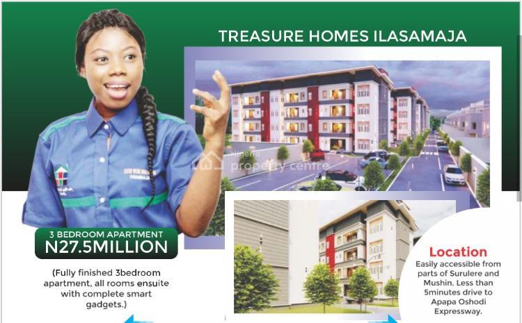 Fully Finished 3 Bedroom Apartment, Treasure Homes, Ilasamaja, Mushin, Lagos, Flat / Apartment for Sale