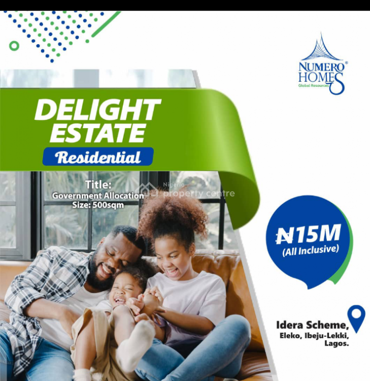 Delight Estate, Idera Scheme, Eleko, Ibeju Lekki, Lagos, Residential Land for Sale