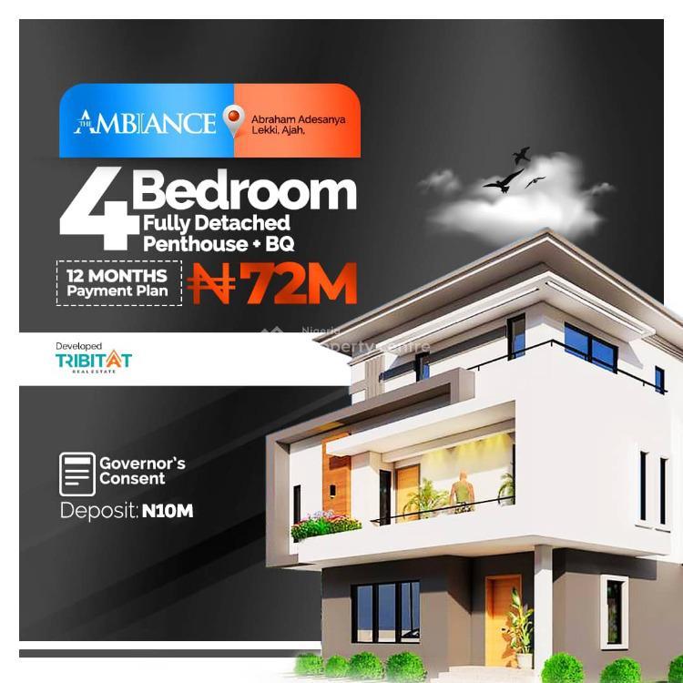 Luxury 4 Bedroom Fully Detached Duplex, Abraham Adesanya Area, Ajah, Lagos, Detached Duplex for Sale