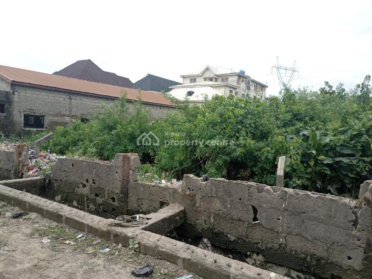 a Well Located One and Half Plot of Land, Canal Estate, Okota, Isolo, Lagos, Residential Land for Sale