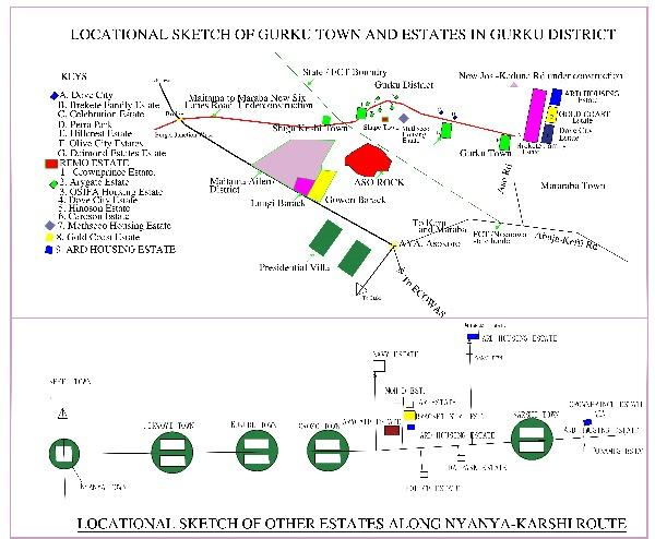 Maitama Extention Estates   Plots at Guruku Near Berekette Family Housing Estate, Guruku Karu  Nasarawa State, Central Business District, Abuja, Residential Land for Sale