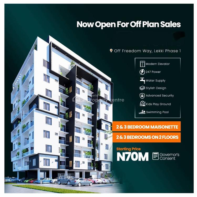 Luxurious and Architecturally Superior 2 Bedroom Maisonette, Off Freedom Way, Lekki Phase 1, Lekki, Lagos, House for Sale