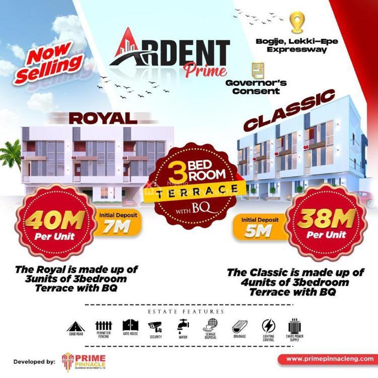 Exquisite 3 Bedroon Duplex with Bq, Bogije, Ibeju Lekki, Lagos, Terraced Duplex for Sale