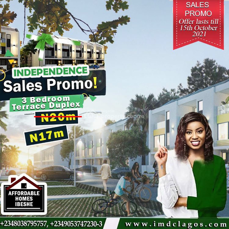 3 Bedroom Terrace Duplex, Ibeshe, Ikorodu, Lagos, Terraced Duplex for Sale