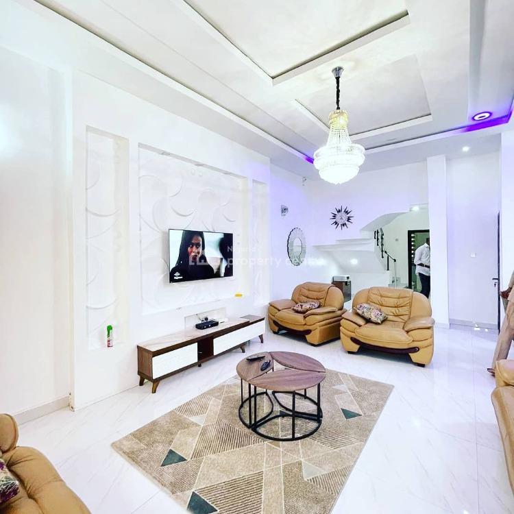 Luxury Fully Furnished 4 Bedroom Semi-detached Duplex, Chevron, Lekki, Lagos, Semi-detached Duplex for Rent