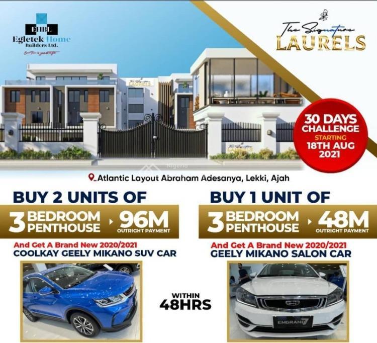 3 Bedroom Penthouse, Atlantic Layout Ajah Lagos, Ajah, Lagos, Semi-detached Duplex for Sale