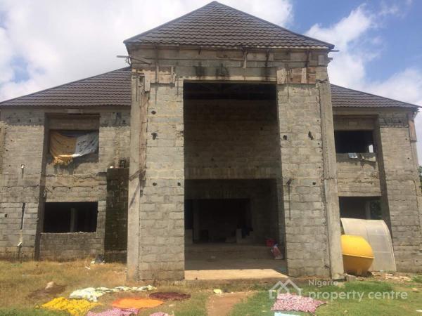 Superb Modern Duplex with 7-bedroom Ensuite {carcass}, Ministers Quarters, Mabuchi, Abuja, Detached Duplex for Sale