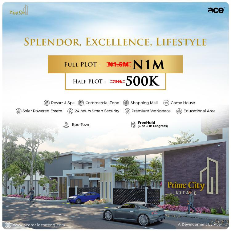 Land, Prime City Estate, Epe, Lagos, Mixed-use Land for Sale