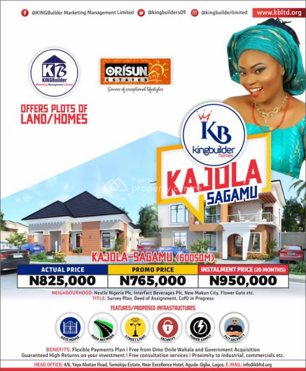 Land, Orisun Estate, Kajola, Sagamu, Ogun, Residential Land for Sale