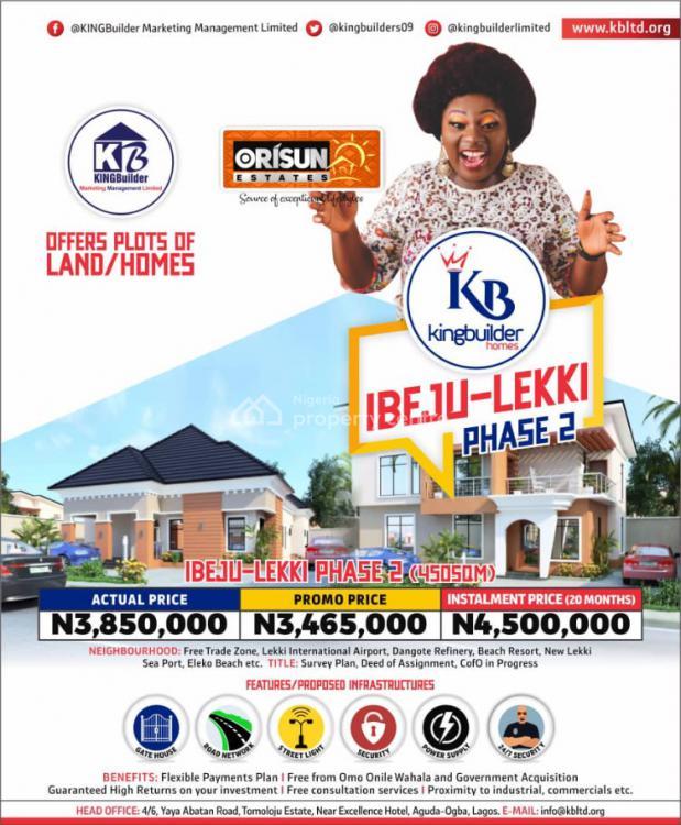 Land, Orisun Estate Phase2, Ibeju Lekki, Lagos, Residential Land for Sale