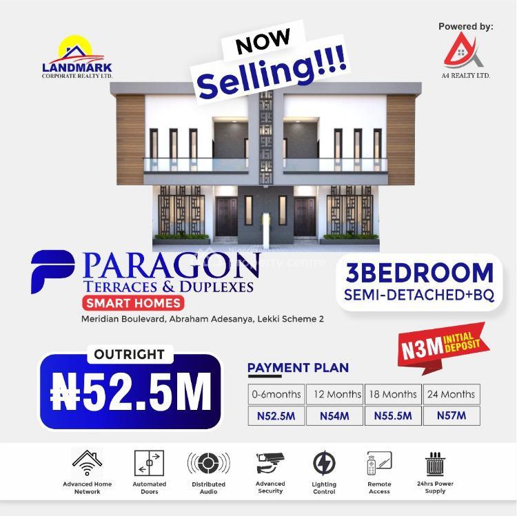 Luxurious 3 Bedroom Semi Detached Duplex with a Bq, Along Ogombo Road Abraham Adesanya, Okun-ajah, Ajah, Lagos, Semi-detached Duplex for Sale