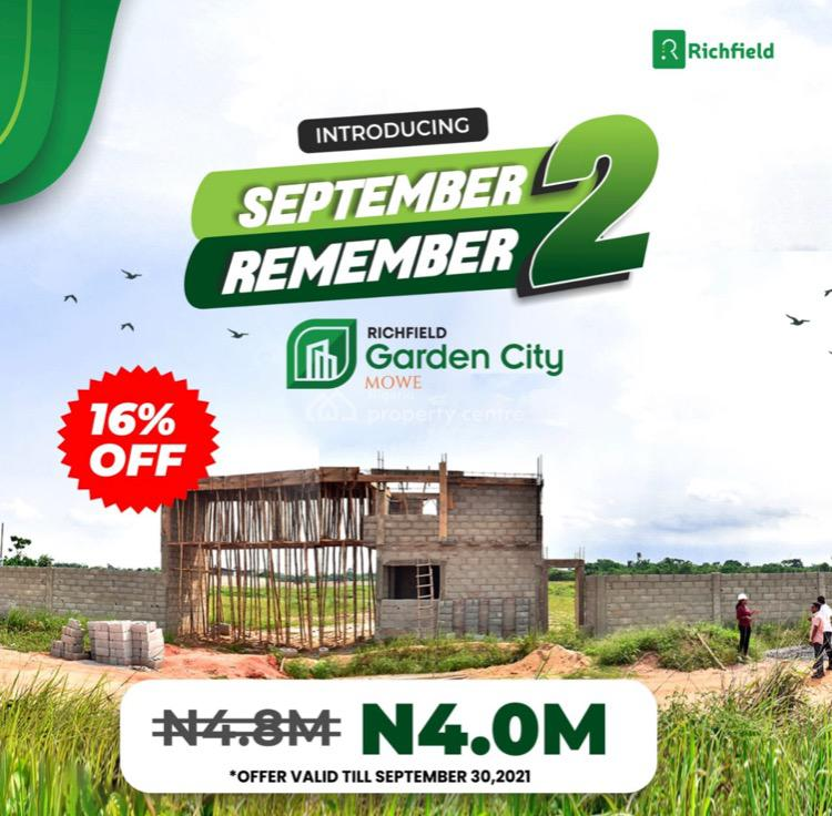 Best Plots of Land in a Well Developed Area, Richfied Garden City, Mowe Town, Ogun, Mixed-use Land for Sale