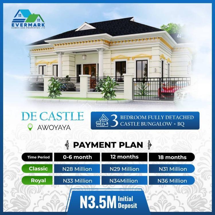 3 Bedroom Fully Detached Castle Bungalow + Bq, Oribanwa Bustop Awoyaya , 2min From Mayfair Gardens, Lekki, Lagos, Semi-detached Duplex for Sale