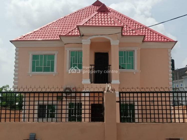 3 Bedroom Up & 2 Bedroom Down with Bq, Icast Elebu, Ibadan, Oyo, Detached Duplex for Sale