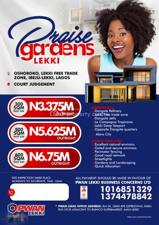Lands, Praise Garden Estate and Twin Court, Lekki, Lagos, Residential Land for Sale