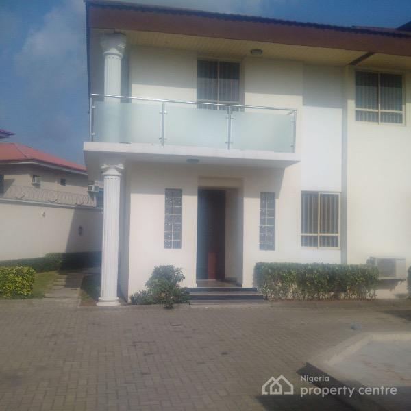 Spacious & Neat Detached House in Osborne 1, Off Ogun Street, Osborne, Ikoyi, Lagos, Semi-detached Duplex for Rent