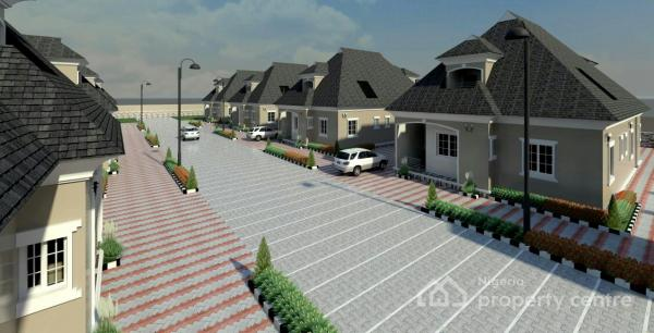 Unique Detached 4 Bedroom Bungalow with Space for Bq in a Mini-estate, Nos 1-8 Estate Road, Fairways, Lugbe District, Abuja, Detached Bungalow for Sale