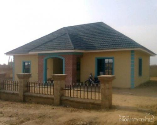 For sale 3 bedroom detached bungalow orozo housing for 3 bedroom house plans in nigeria