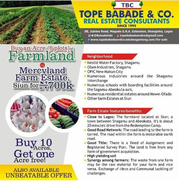 Good & Affordable Farm Land For Sale Within A Farm Estate