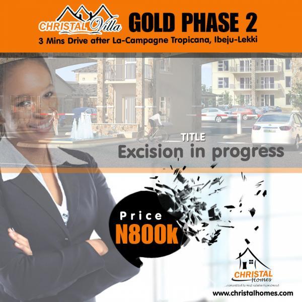 Christal Villa Gold Phase 2, Christal Villa Gold, Igbogun, Ibeju Lekki, Lagos, Residential Land for Sale