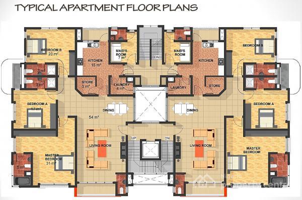 Luxury Apartment Floor Plans 3 Bedroom: For Sale: 3 Bedroom Luxury Apartment , Water Corporation