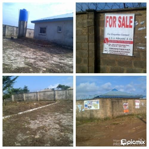 2 Plots Fenced And Gated Plus A Newly Built 4 Bedroom Detached Bungalow @orimerunmu By Total Filling Station, Ibafo, Mowe Ofada, Ogun, 4 Bedroom House For Sale