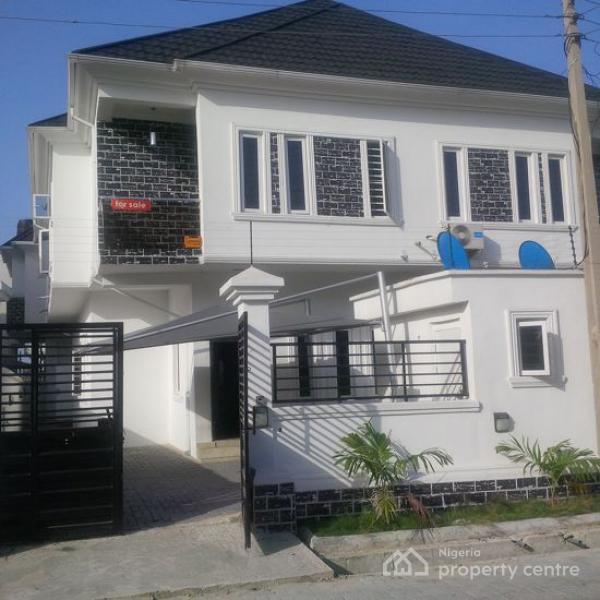 4 Bedroom Duplex with Bq, Osapa, Lekki, Lagos, Semi-detached Duplex for Sale