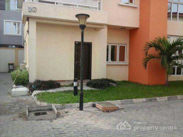 Well Finished 4 Bedroom Semi-detached House +1 Room Bq, Pool, 24hrs Light in a Mini Estate, Chevron Drive, Lekki, Lagos, Semi-detached Duplex for Rent