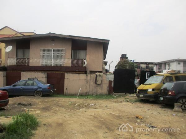 a Land with an Old Property on It Measuring 1020sqm, Babs Animashuan, Bode Thomas, Surulere, Lagos, Mixed-use Land for Sale