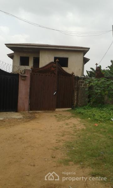 4 Bedroom Almost Completed Duplex with Two Flats of Three Bedrooms Each at The Back, Ikorodu, Lagos, Semi-detached Duplex for Sale