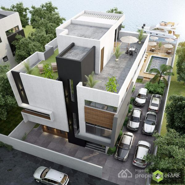 For sale luxury at it 39 s peak waterfront 5 bedrooms house for Duplex house plans with swimming pool