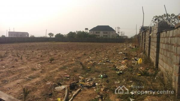 Fenced Commercial Land Use Strategic & Superbly Located, Along Abc Cargo- Living Faith Link Road, Jahi, Abuja, Commercial Land for Sale