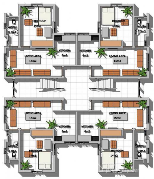 for Sale Luxury One-bedroom Flat with Inverter-ducting/internet Connectivity Feature, Plot 809/810, Ghali Naabba Crescent, Dahiru Musdafa Boulevard, Off Babafemi Ogundipe Boulevard, Wuye, Abuja., Wuye, Abuja, Flat for Sale