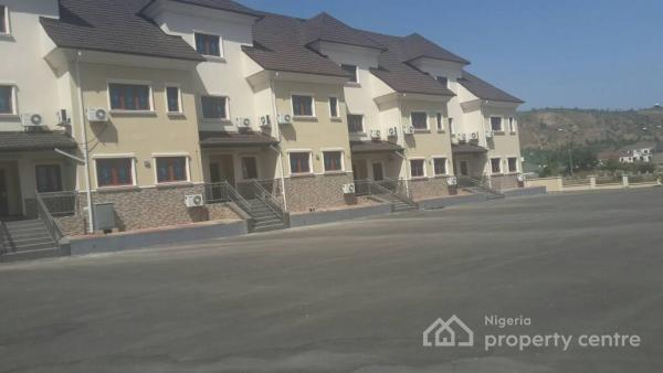 Serviced and Tastefully Finished 4 Bedroom Terraced House with a Room Servant Quarters, Katampe Extension, Katampe, Abuja, Terraced Duplex for Rent