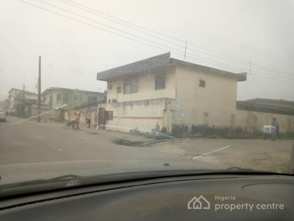 Fenced Plot of Land  + Building for Development, Adebambo Street, Off Ikorodu Road, Bye Falemi House, Obanikoro Estate, Obanikoro, Shomolu, Lagos, Flat Joint Venture