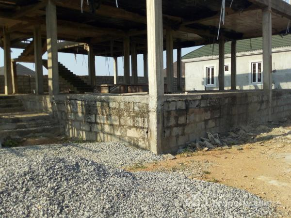 Uncompleted 5 Bedroom Duplex for Immediate Sales, After Nnpc Station, Guzape District, Abuja, Detached Duplex for Sale