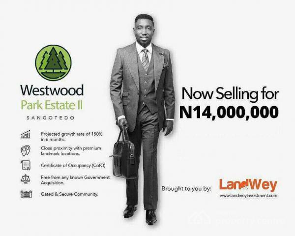Plots of Land, Westwood Park, Behind Shoprite, Sangotedo, Ajah, Lagos, Mixed-use Land for Sale