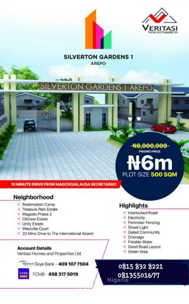 Silverton Gardens, Areepo, Opic, Isheri North, Lagos, Mixed-use Land for Sale