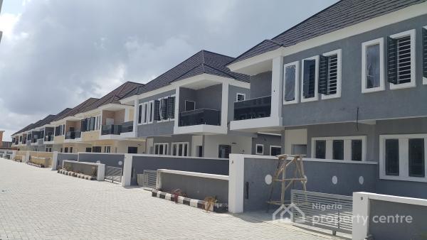Brand New Serviced 4 Bedroom Semi-detached House with Bq, Lafiaji, Lekki, Lagos, Semi-detached Duplex for Sale