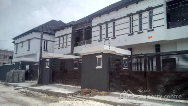 Sweet Immaculate White 4 Bedroom Semi-detached Duplex, Lafiaji, Immediately After 2nd Chevron Toll Gate, Chevy View Estate, Lekki, Lagos, Semi-detached Duplex for Sale