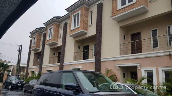 Relatively New 4 Bedroom Town House with 1 Room Bq on 3 Floors in a Compound with 3 More Units, Abiola Court Ikate Off Lekki Expressway, Ikate Elegushi, Lekki, Lagos, Terraced Duplex for Sale