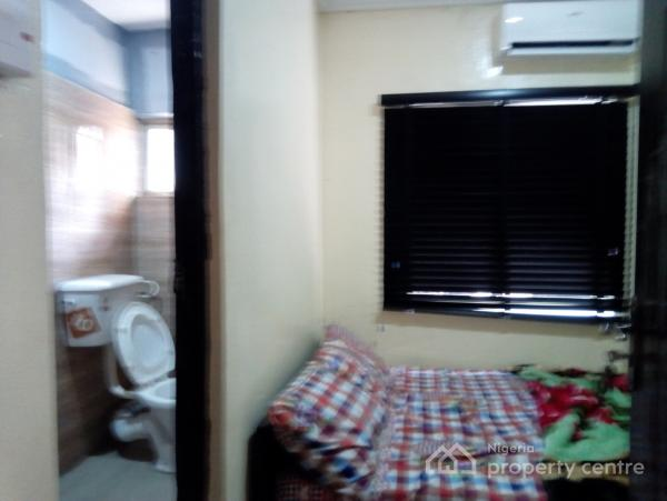 Clean Furnished Single Room Self with Parking Space, Yaba, Lagos, Self Contained (studio) Flat for Rent