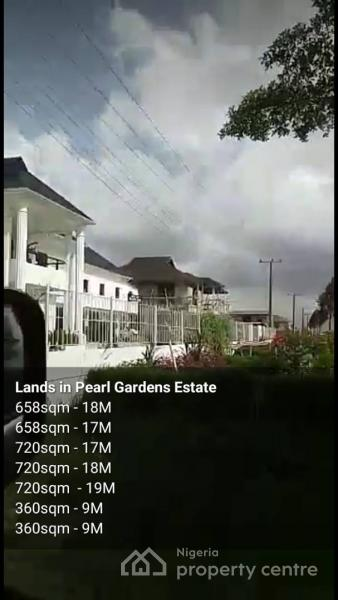658sqm Land in Pearl Garden Estate for 16.5m, Pearl Gardens Estate, Behind Shop Rite, Monastery Road, Sangotedo, Ajah, Lagos, Residential Land for Sale
