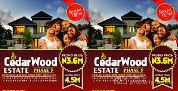 Good Land with Excision on Free Trade Zone - Cedarwood Estate Phase 3, Ibeju Lekki, Lagos, Residential Land for Sale