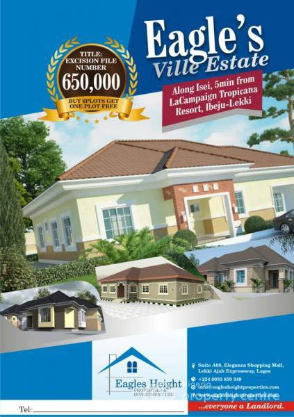 Plots of Land, Along Isei, 5mins From Lacampaign Tropicana Resort, Orimedu, Ibeju Lekki, Lagos, Mixed-use Land for Sale