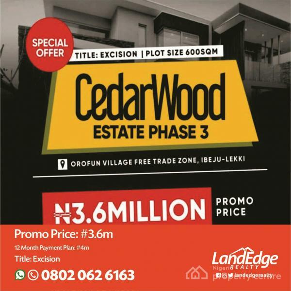 Cedarwood Estate Phase 3, Orofun, Ibeju Lekki, Lagos, Land for Sale