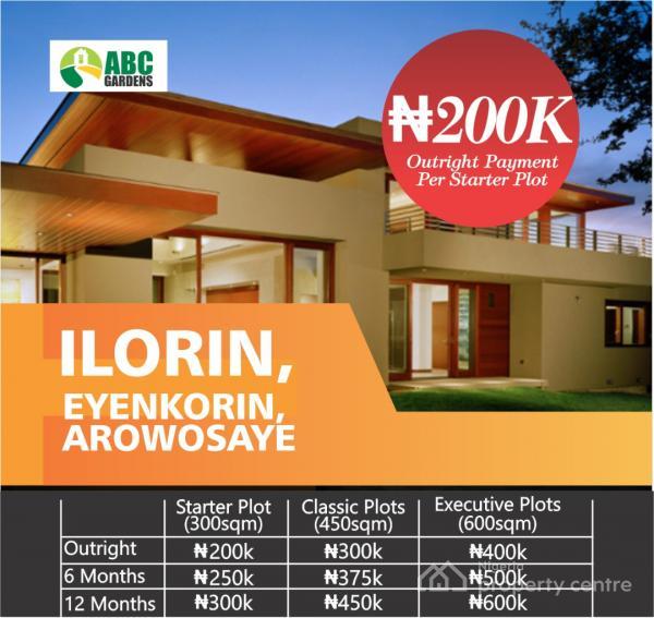 Estate Land, Eyenkorin, Ilorin West, Kwara, Residential Land for Sale